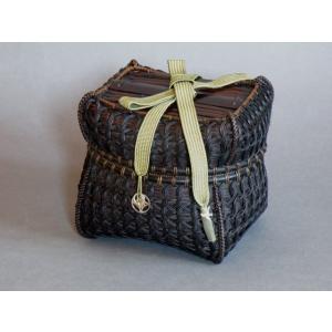 籐組七宝編み茶籠 茶道具 仕覆 e-basket