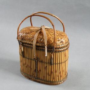 燻煙千島笹 提籃 茶道具 煎茶 e-basket