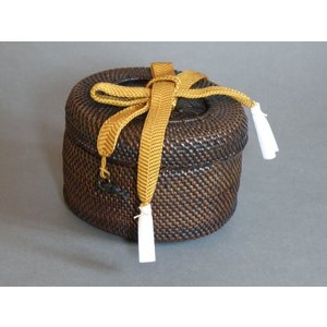 籐組茶籠 茶道具 仕覆 e-basket