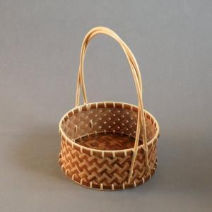煤竹 莨盆 茶道具 e-basket