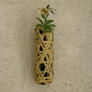 掛け花籠 蛇籠 根曲り竹 茶花|e-basket
