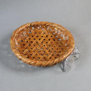 燻煙千島笹 根曲がり竹 煤竹 鉄線盛り籠 果物籠|e-basket