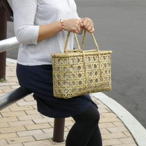 竹籠バッグ かごバッグ 八つ目編み 根曲り竹 袋 e-basket