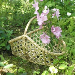 受注制作 手つき盛り籠 手提げ籠 根曲竹 千島笹|e-basket
