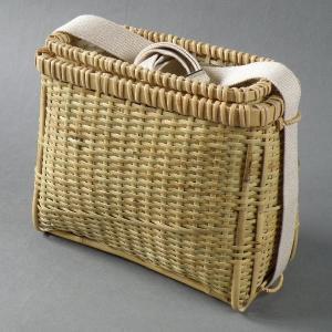 渓流釣り 魚籠 エサ籠付 根曲竹|e-basket