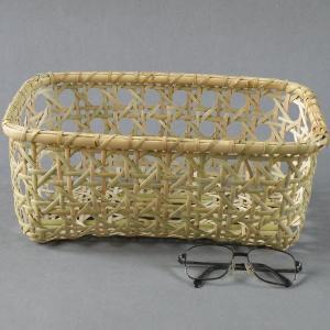生活の道具 八つ目編みバスケット 千島笹 根曲り竹|e-basket