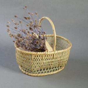 根曲がり竹 手提げ籠 買い物かご 天然生活|e-basket