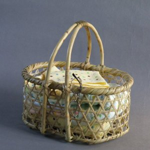 六つ目手つき籠(大)|e-basket