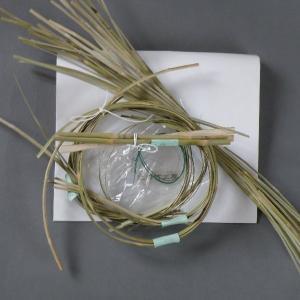 六つ目編みの籠 材料キット 根曲竹  e-basket