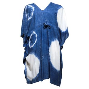 ブラウス アジアン衣料 コットン・藍染ブラウス4 クリックポスト選択 送料200円 e-bingo
