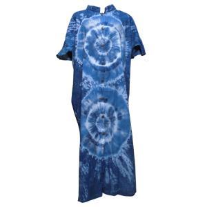 ワンピース アジアン衣料 コットン・藍染ワンピース3|e-bingo