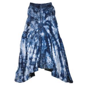 パンツ アジアン衣料 藍染サルエルパンツ2|e-bingo