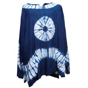 Tシャツ アジアン衣料 コットン藍染Tシャツ10 クリックポスト選択 送料200円|e-bingo