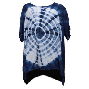 Tシャツ アジアン衣料 コットン藍染Tシャツ2 クリックポスト選択 送料200円|e-bingo