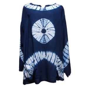 Tシャツ アジアン衣料 コットン藍染Tシャツ3 クリックポスト選択 送料200円|e-bingo