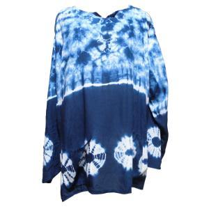 Tシャツ アジアン衣料 コットン藍染Tシャツ6 クリックポスト選択 送料200円|e-bingo