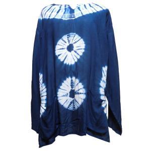 Tシャツ 訳あり アジアン衣料 コットン藍染Tシャツ7 クリックポスト選択 送料200円|e-bingo
