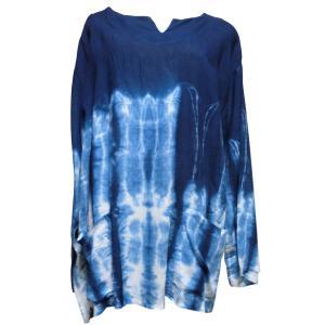 Tシャツ アジアン衣料 コットン藍染Tシャツ8 クリックポスト選択 送料200円|e-bingo