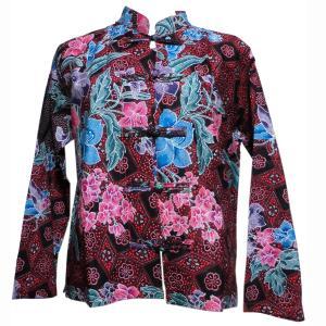 ブラウス アジアン衣料 バティック・チャイナ・ブラウス12 クリックポスト選択 送料200円|e-bingo