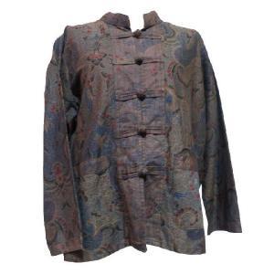 ブラウス アジアン衣料 バティック・チャイナ・ブラウス15 クリックポスト選択 送料200円|e-bingo