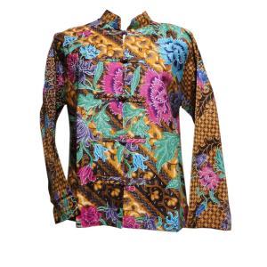 ブラウス アジアン衣料 バティック・チャイナ・ブラウス16 クリックポスト選択 送料200円|e-bingo