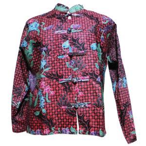 ブラウス アジアン衣料 バティック・チャイナ・ブラウス2 クリックポスト選択 送料200円|e-bingo