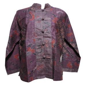 ブラウス アジアン衣料 バティック・チャイナ・ブラウス8 クリックポスト選択 送料200円|e-bingo
