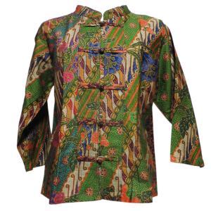 ブラウス アジアン衣料 バティック・チャイナ・ブラウス9 クリックポスト選択 送料200円|e-bingo