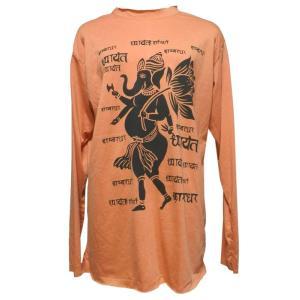Tシャツ アジアン衣料 コットン・仏像・長袖Tシャツ10 クリックポスト選択 送料200円|e-bingo