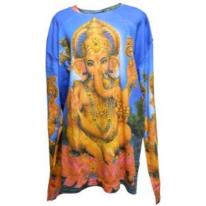 Tシャツ アジアン衣料 コットン・仏像・長袖Tシャツ15 クリックポスト選択 送料200円|e-bingo