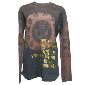 Tシャツ アジアン衣料 コットン・仏像・長袖Tシャツ4 クリックポスト選択 送料200円|e-bingo
