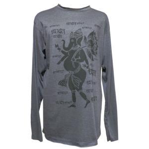 Tシャツ アジアン衣料 コットン・仏像・長袖Tシャツ6 クリックポスト選択 送料200円|e-bingo