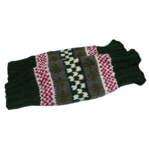 レッグウォーマー アジアン衣料 ネパール手編みウールレッグウォーマー 裏地フリース付き 1 e-bingo