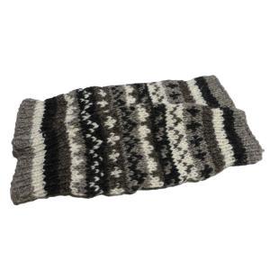 レッグウォーマー アジアン衣料 ネパール手編みウールレッグウォーマー10|e-bingo