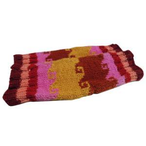 レッグウォーマー アジアン衣料 ネパール手編みウールレッグウォーマー 裏地フリース付き11 e-bingo