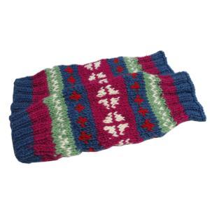 レッグウォーマー アジアン衣料 ネパール手編みウールレッグウォーマー 12|e-bingo
