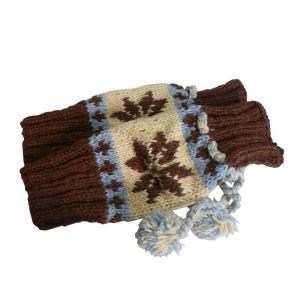 レッグウォーマー アジアン衣料 ネパール手編みウールレッグウォーマー13|e-bingo
