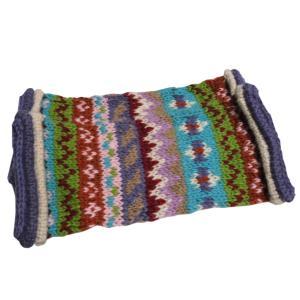レッグウォーマー アジアン衣料 ネパール手編みウールレッグウォーマー 裏地フリース付き14|e-bingo