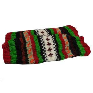レッグウォーマー アジアン衣料 ネパール手編みウールレッグウォーマー 裏地フリース付き18 e-bingo