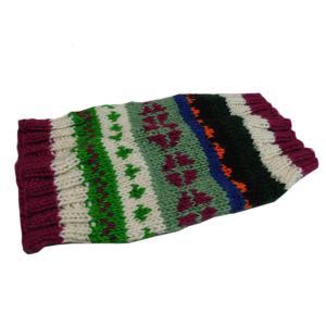 レッグウォーマー アジアン衣料 ネパール手編みウールレッグウォーマー22 e-bingo