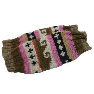 レッグウォーマー アジアン衣料 ネパール手編みウールレッグウォーマー26|e-bingo