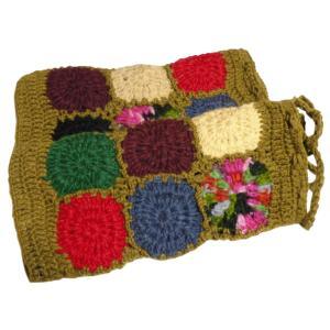 レッグウォーマー アジアン衣料 ネパール手編みウールレッグウォーマー 裏地フリース付き32|e-bingo
