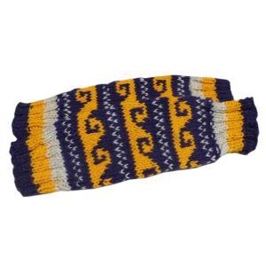 レッグウォーマー アジアン衣料 ネパール手編みウールレッグウォーマー 裏地フリース付き33|e-bingo