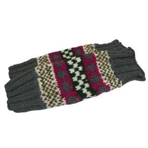 レッグウォーマー アジアン衣料 ネパール手編みウールレッグウォーマー 裏地フリース付き34|e-bingo