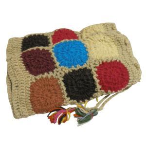 レッグウォーマー アジアン衣料 ネパール手編みウールレッグウォーマー 裏地フリース付き35|e-bingo
