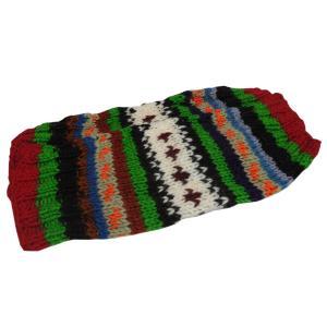レッグウォーマー アジアン衣料 ネパール手編みウールレッグウォーマー 裏地フリース付き36|e-bingo