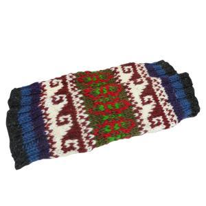 レッグウォーマー アジアン衣料 ネパール手編みウールレッグウォーマー6|e-bingo
