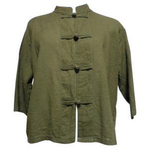 ブラウス アジアン衣料 前開きチャイナブラウス(黒色) クリックポスト選択 送料200円|e-bingo