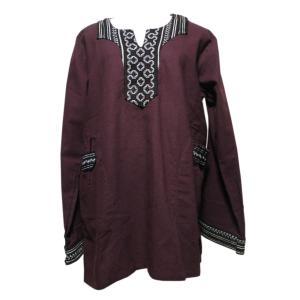 メンズブラウス アジアン衣料 コットン・ネパール・メンズブラウス11 クリックポスト選択 送料200円|e-bingo