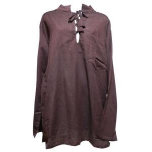 メンズブラウス アジアン衣料 コットン・ネパール・メンズブラウス17 クリックポスト選択 送料200円|e-bingo